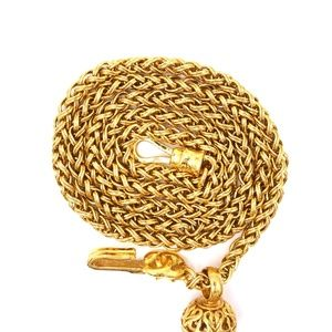 Chanel Jewelry - Gold Rare Cc Textured Cutout Long Chain Necklace